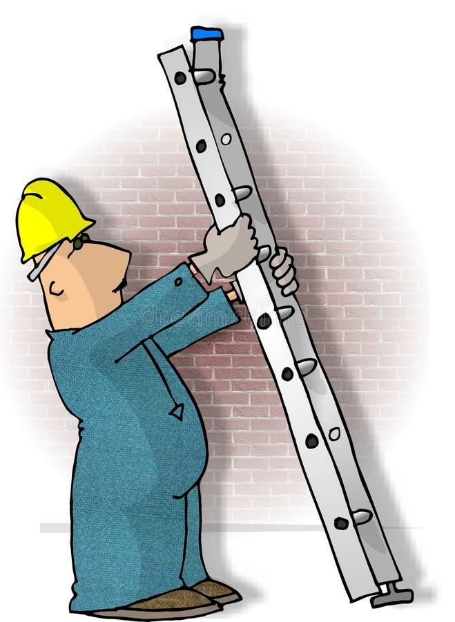 Ladder Safety royalty free illustration