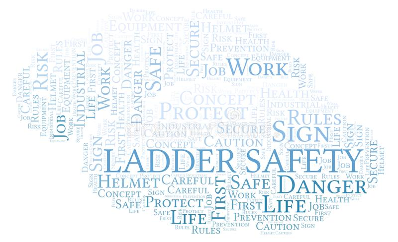 Ladder Safety word cloud. stock illustration