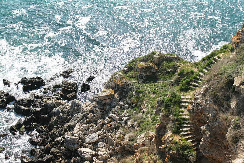 Ladder and sea