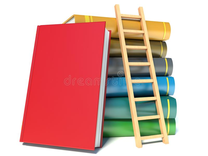 Download A ladder on stack of books stock illustration. Image of page - 40134967