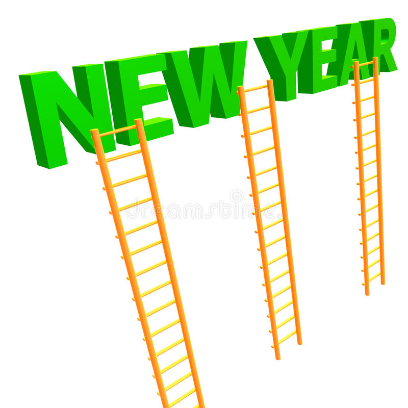 Download The Ladder To 2010 New Year Stock Illustration - Image: 11505089