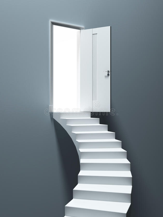 Download Ladder to the Heaven Door stock illustration. Image of enter - 28336203