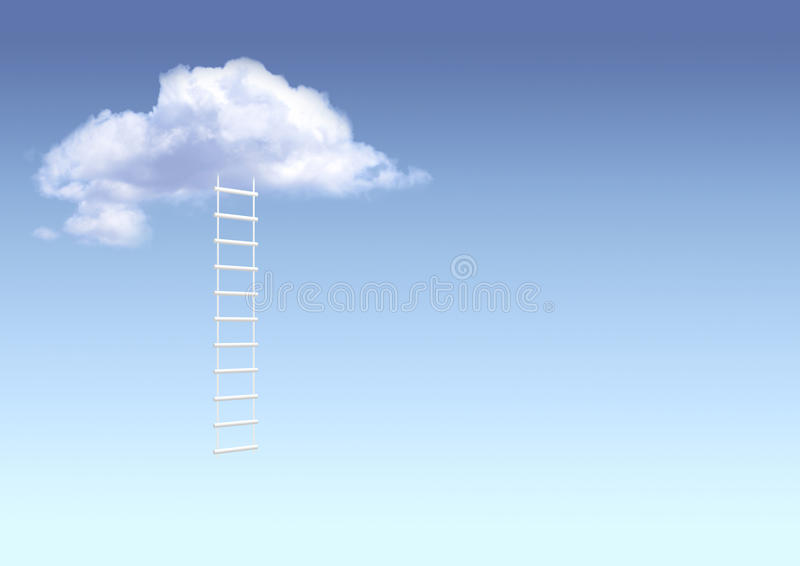 Download Ladder to paradise stock illustration. Image of beginning - 12902441