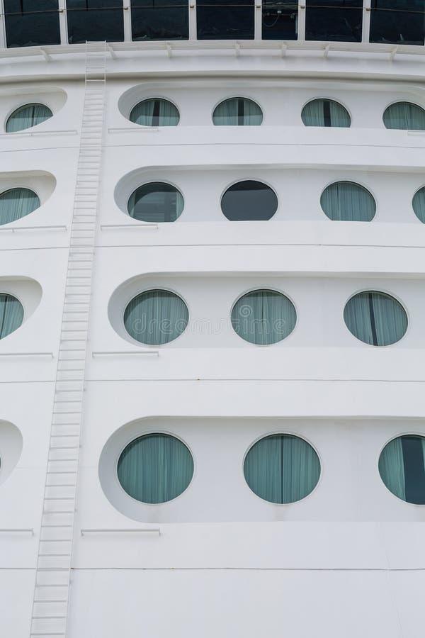 Ladder to Ships Bridge by Portholes royalty free stock image