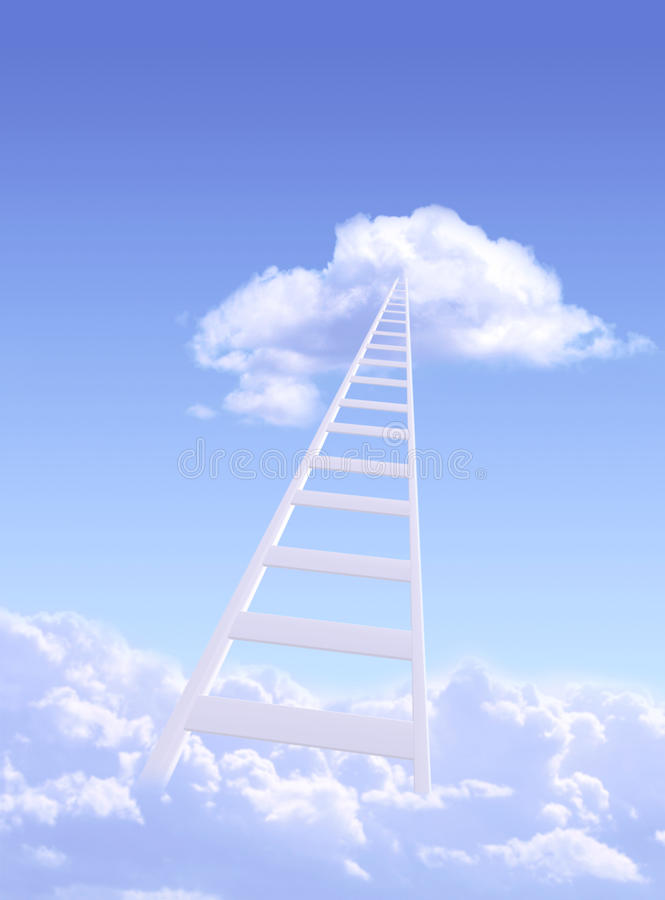 Ladder to sky stock photography