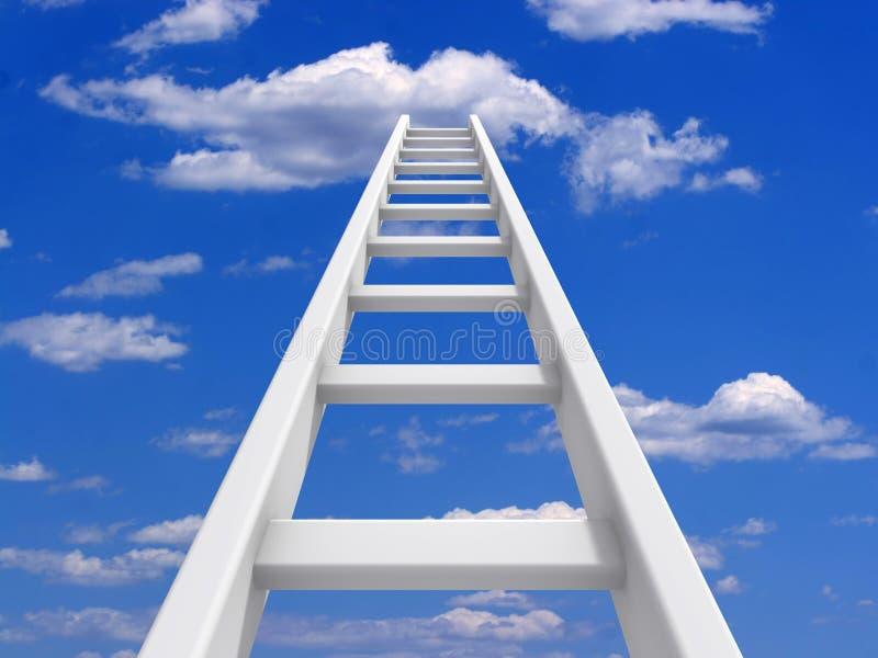 Ladder to sky royalty free illustration
