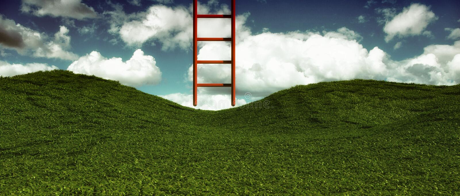 Ladder to the Sky. royalty free stock photography