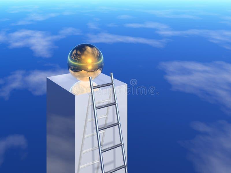 Download Ladder to success stock illustration. Illustration of luck - 2649593