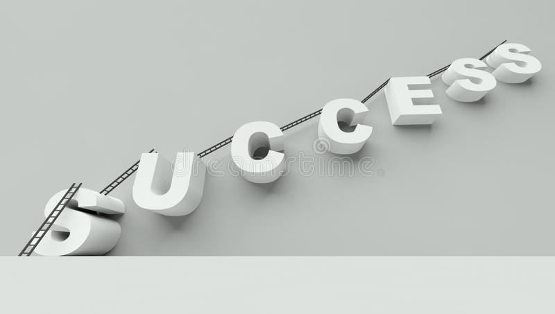 Download Ladder To Success 3d Render Stock Illustration - Illustration of descend, chance: 22602563