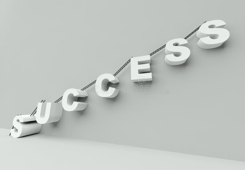 Download Ladder To Success 3d Render Stock Illustration - Illustration of block, ladder: 22602565