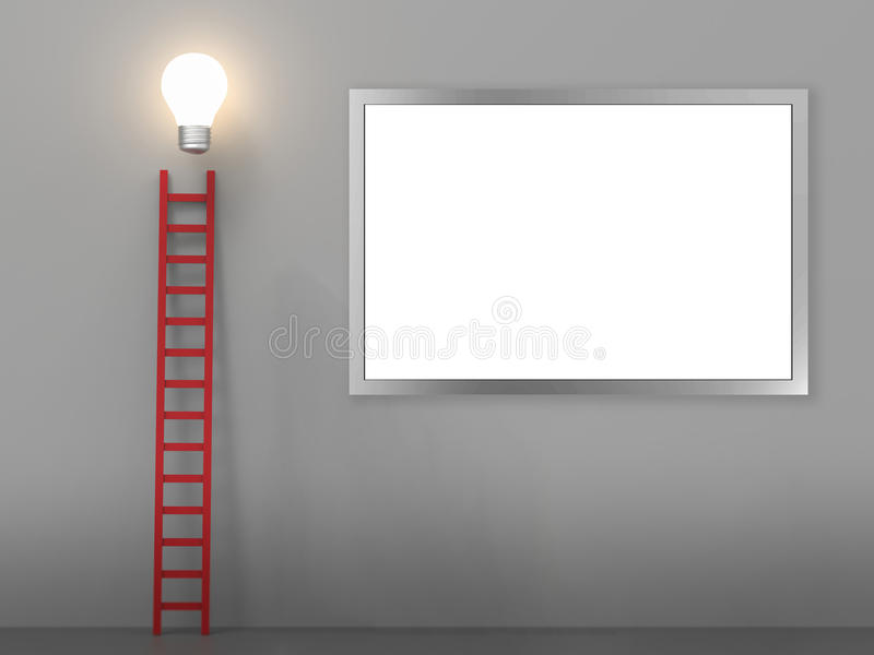 Ladder to success concept stock illustration