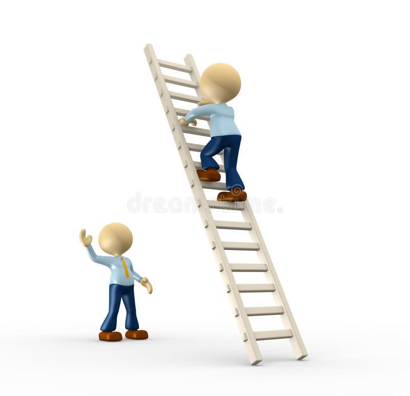 Ladder to success vector illustration