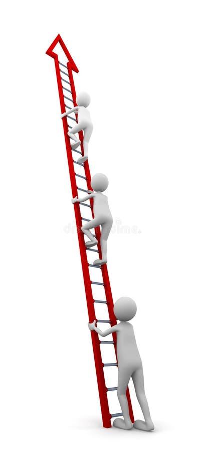 Ladder van Succes stock illustratie