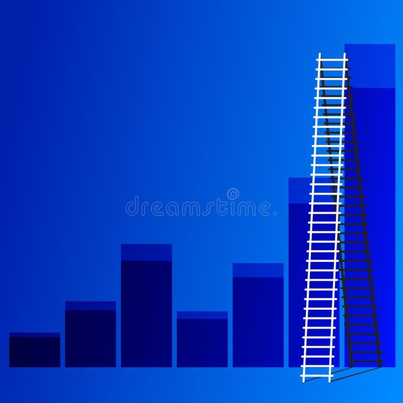 Ladder van succes. vector illustratie