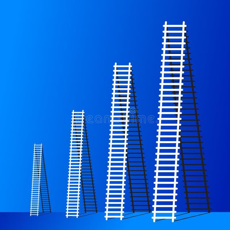 Ladder van succes. stock illustratie
