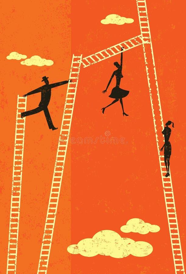 Ladder van succes vector illustratie