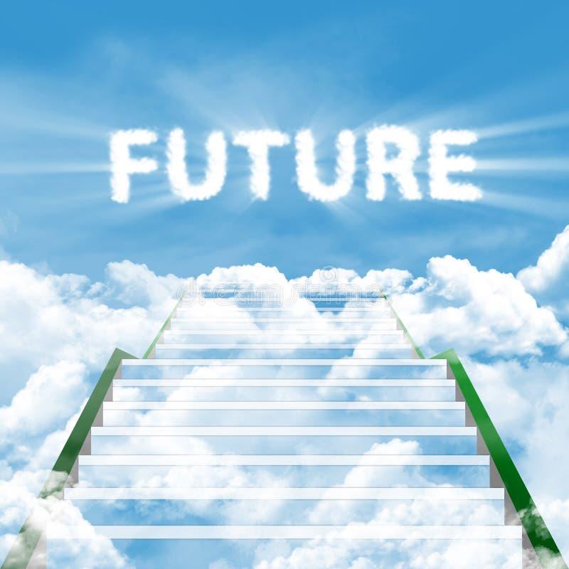 Ladder van toekomst stock afbeelding