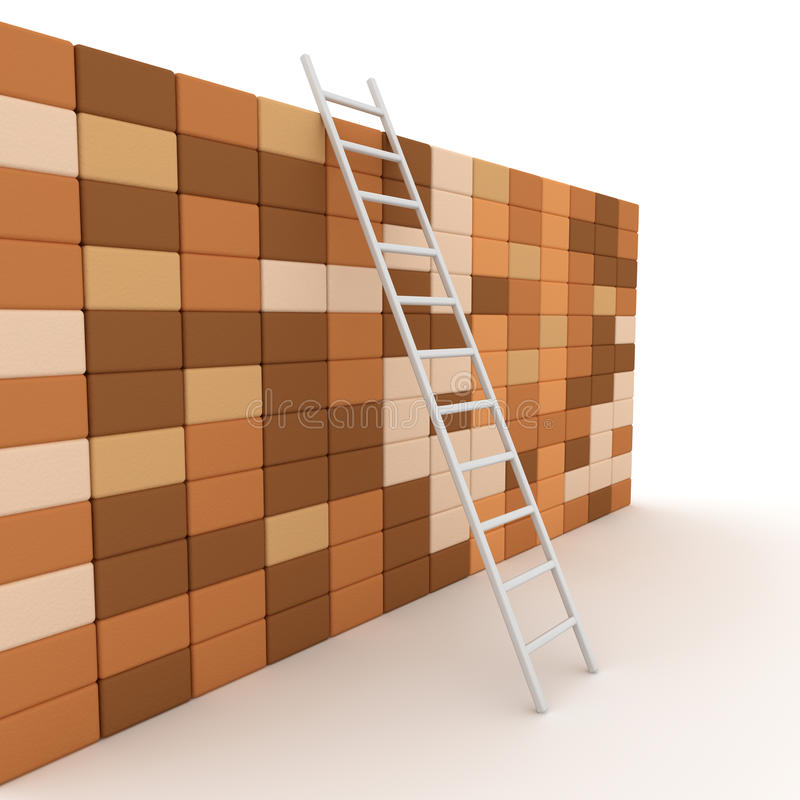 Download Ladder and wall stock illustration. Image of steps, masonry - 28306778