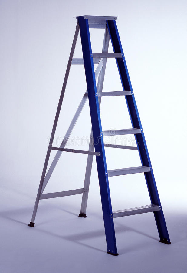 Ladder. With white background (tools stock image