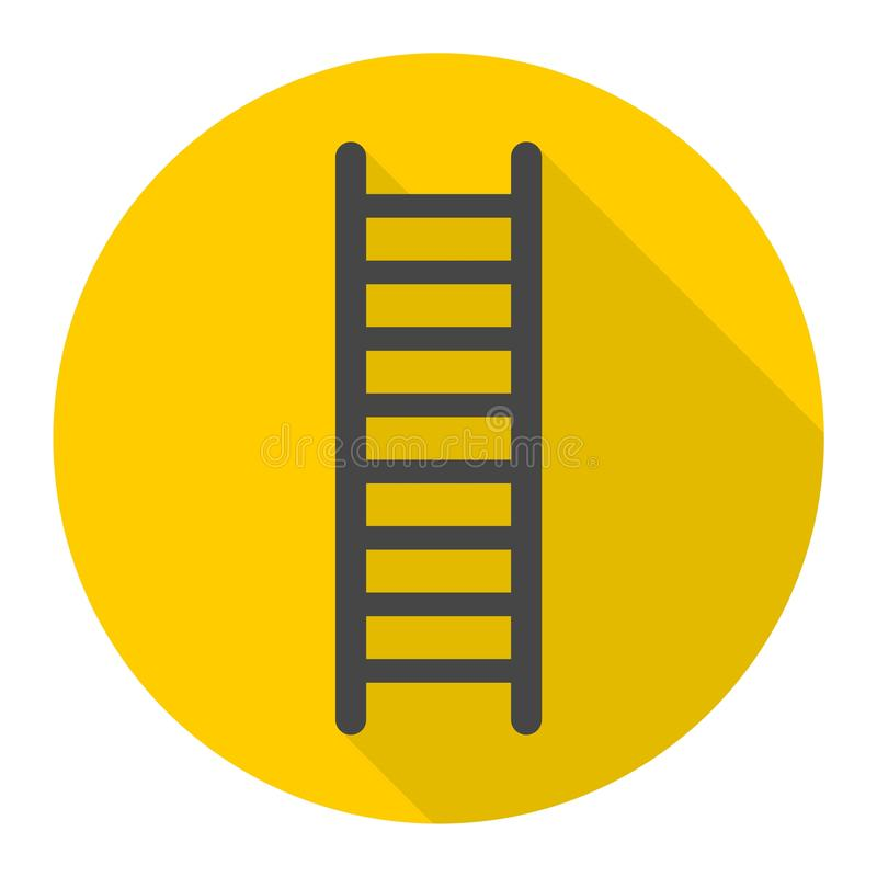 Ladderpictogram met lange schaduw vector illustratie
