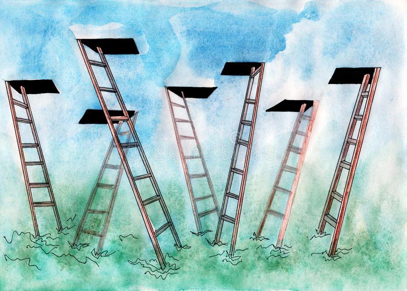 ladders stock illustratie
