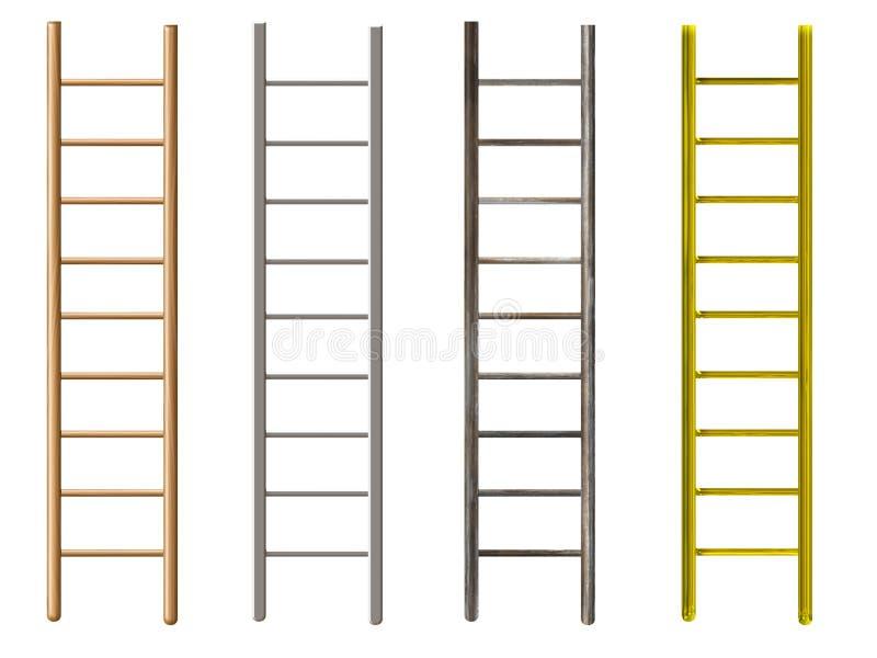 Ladders royalty free illustration