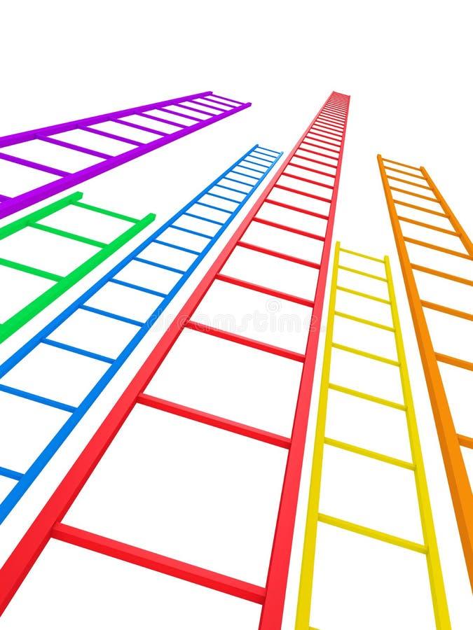 Ladders aan Succes stock illustratie
