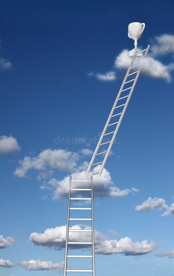 Ladders aan succes en beloning vector illustratie