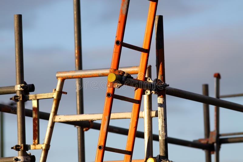 Download Ladders on scaffolding stock image. Image of secure, safe - 24805815
