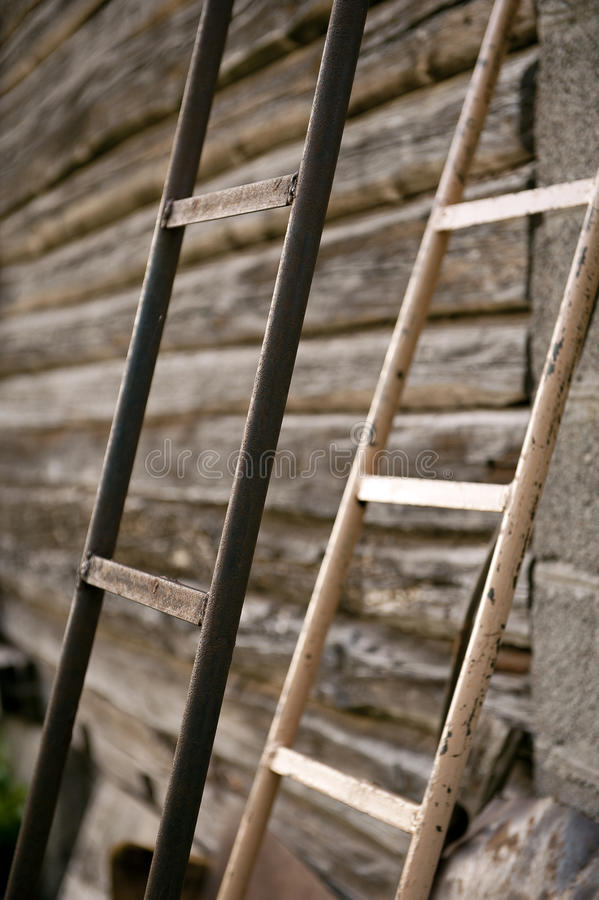 Ladders In The Village Stock Photography