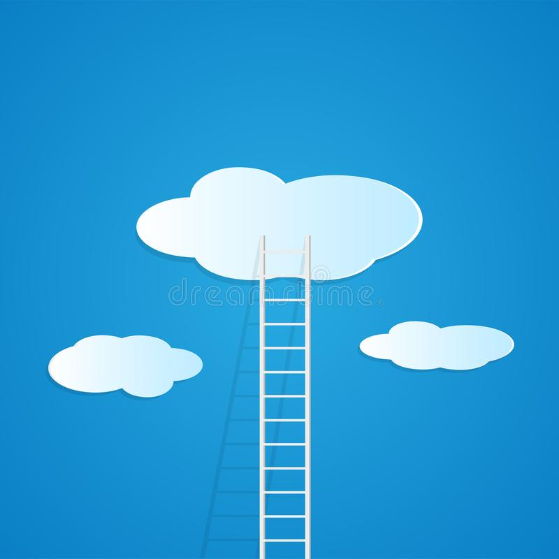 Ladderwolken vector illustratie