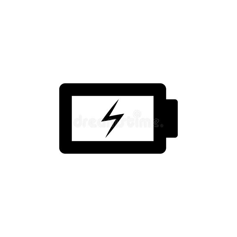 Laddning batterivektorsymbol Enkel best?ndsdelillustration fr?n UI-begrepp r Laddning batteri vektor illustrationer