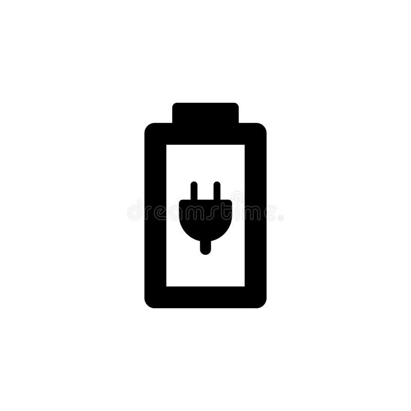 Laddning batterivektorsymbol Enkel best?ndsdelillustration fr?n UI-begrepp r Laddning batteri royaltyfri illustrationer
