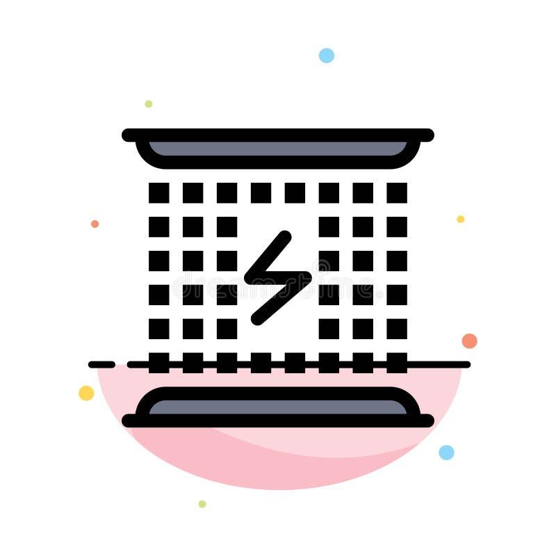Laddning som laddar, elektricitet som är elektromagnetisk, för färgsymbol för energi abstrakt plan mall vektor illustrationer