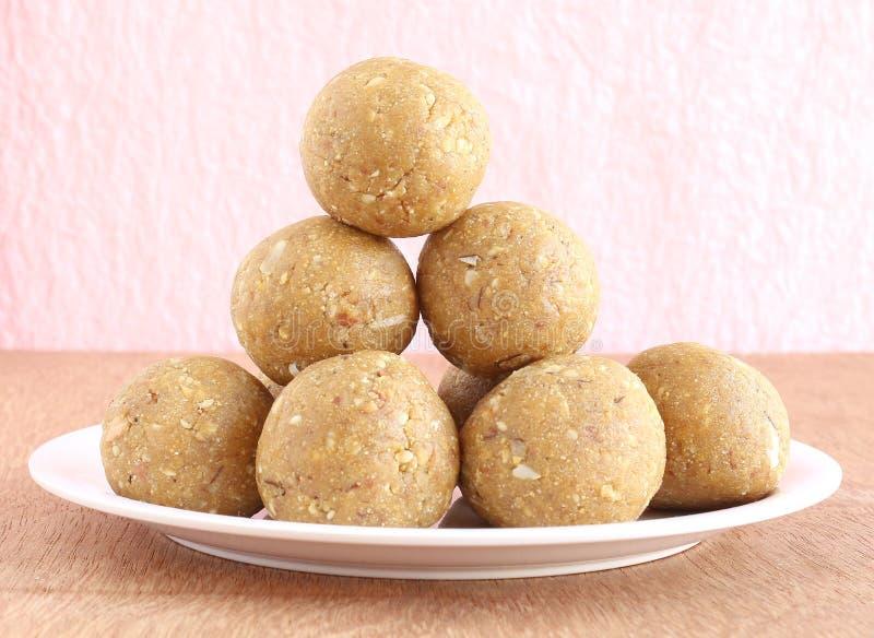 Laddu dolce indiano fotografie stock libere da diritti