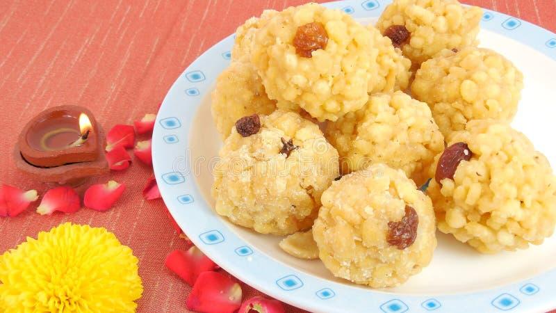 Laddu doux indien photos stock