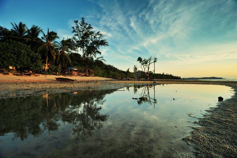 Laddy Ross plaży odbicie obrazy royalty free