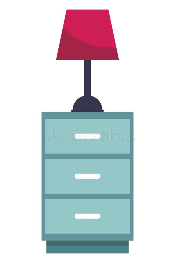 Lade met lichte lamp royalty-vrije illustratie