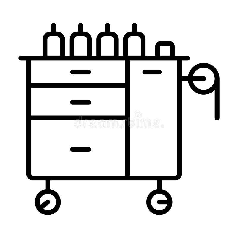 Lade rollend pictogram vector illustratie