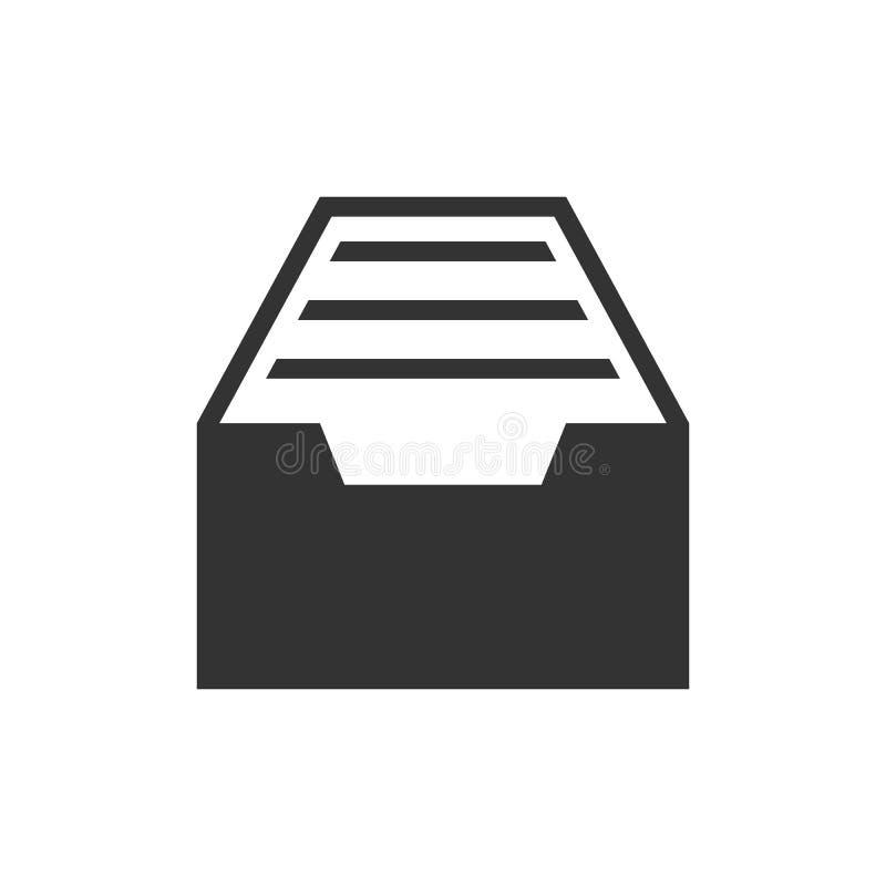 Lade zwart pictogram stock illustratie