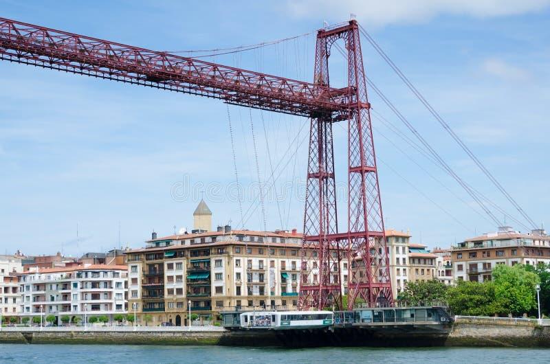 Ladebrücke, Getxo lizenzfreies stockbild