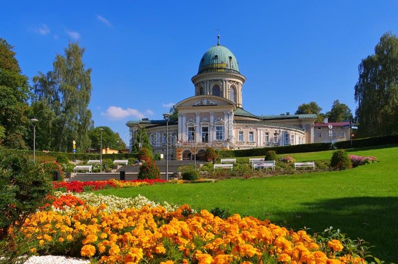 Ladek-Zdroj, station thermale de santé en vallée de Klodzko images libres de droits