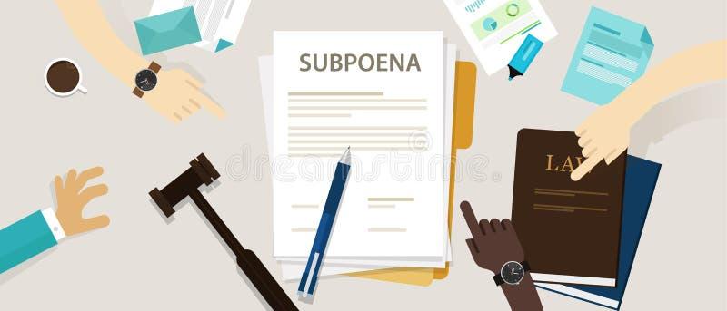 Laden Sie die Einrichtung einer Person vor, an einem Gericht teilzunehmen lizenzfreie abbildung