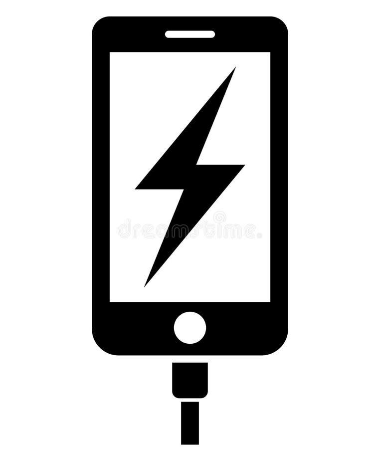 Ladend telefoonpictogram vector illustratie