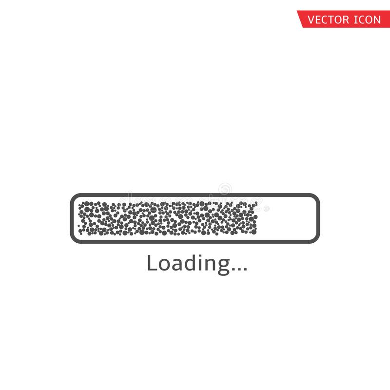 Ladend vectorpictogram royalty-vrije illustratie