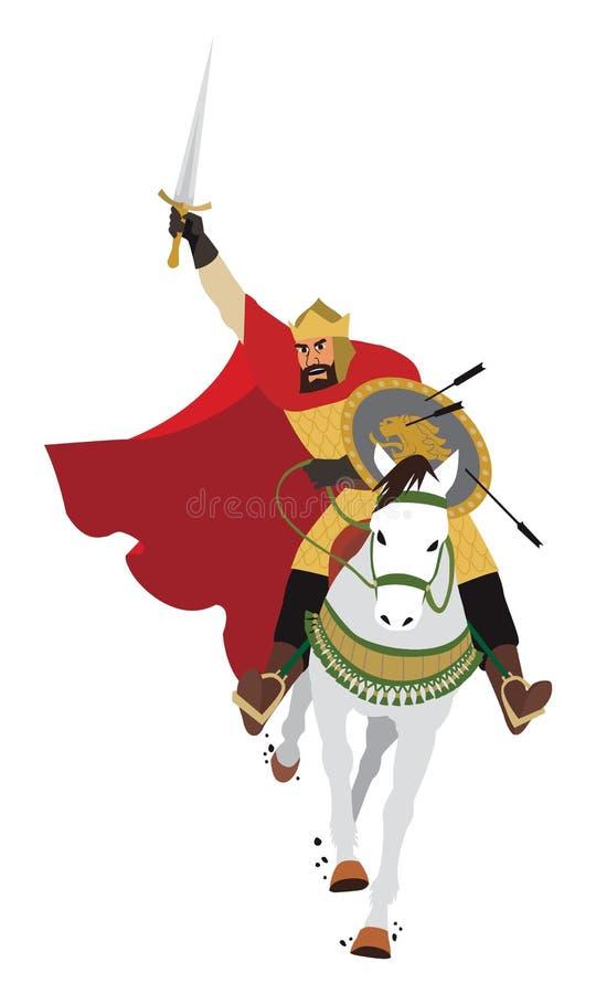 Ladende koning stock illustratie