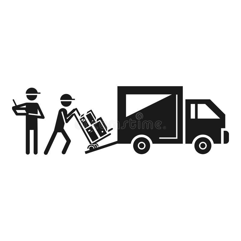 Ladende Lieferwagenikone, einfache Art stock abbildung