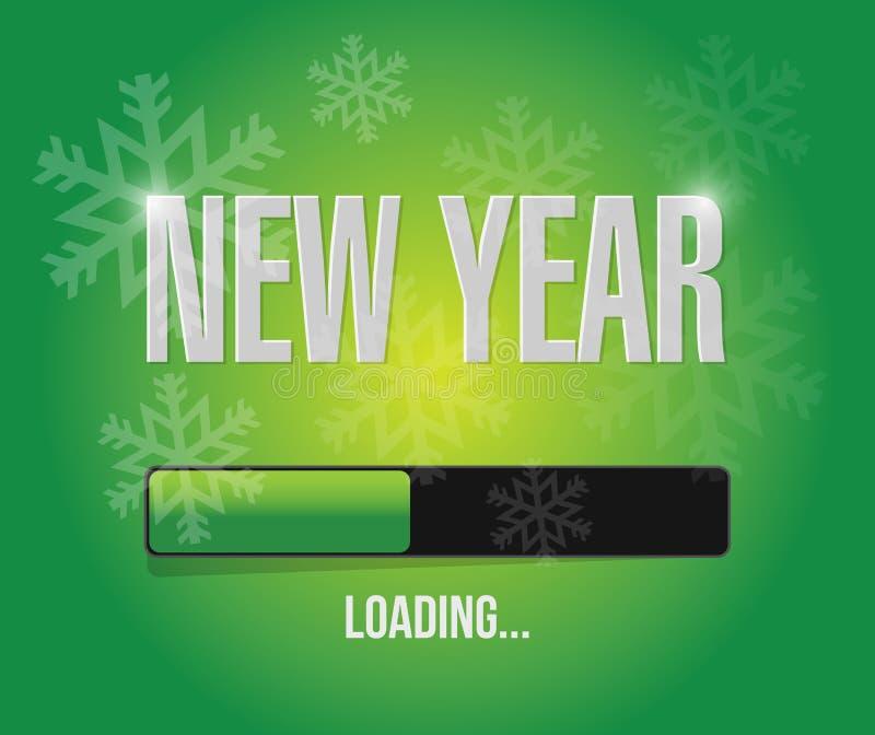 Ladenkonzept des neuen Jahres der Schneeflocken lizenzfreie abbildung