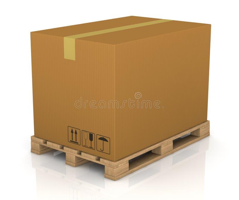 Ladeplatten- und Kartonkasten lizenzfreie abbildung