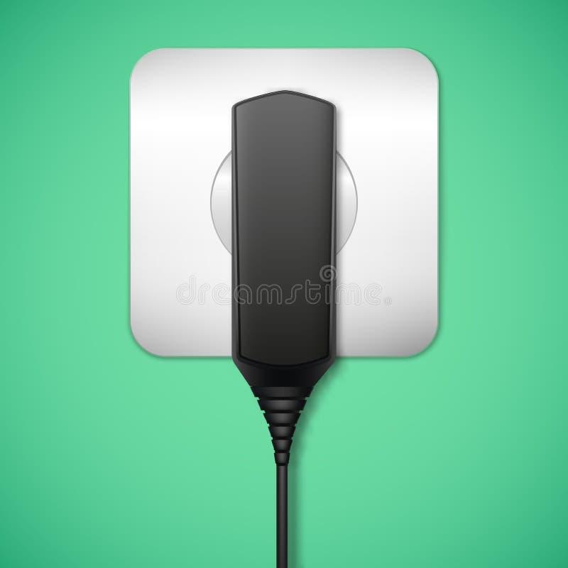 Lader in een elektroafzet. vector illustratie